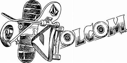 Volcom Skate Drawings French Rollin Matt Stone