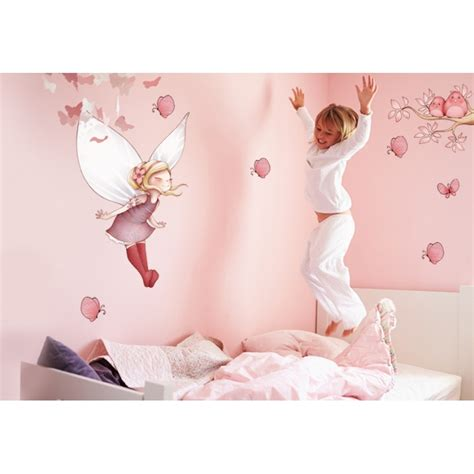 toile chambre fille wall stickers flying and butterflies board