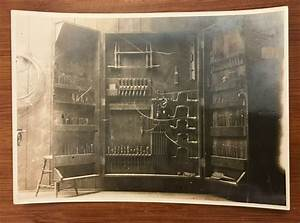 C1930 Vintage Photo Manual Arts Woodworking Tool Cabinet