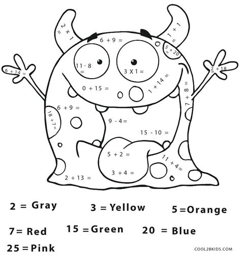 math coloring pages  grade  getcoloringscom
