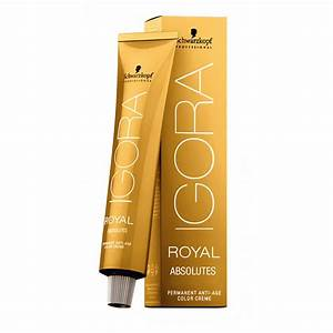 Royal Hair Color Chart Schwarzkopf Igora Royal Absolutes Cream Hair Color 60ml