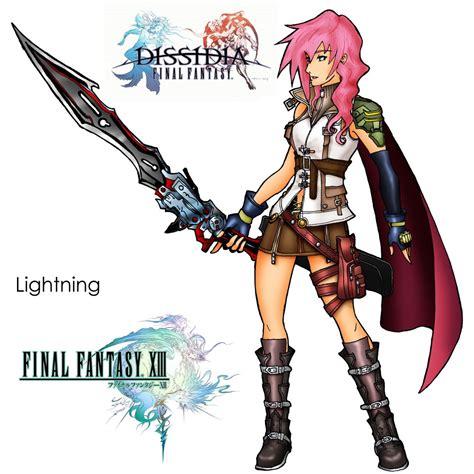 dissidia ff13 lightning by marduk kurios on