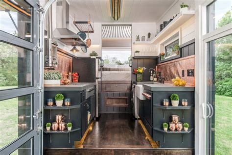 Tiny Home Bar by Escher Tiny House Raises The Bar For Luxury Small Living