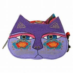 Artist Laurel Burch Coin Purse Lavender Cat