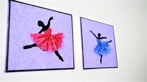 These elegant and classy looking bows are just wow! Ballerina Hanging Wall Decor, DIY Handmade Paper Craft, Home Decoration Ideas, Art and Craft