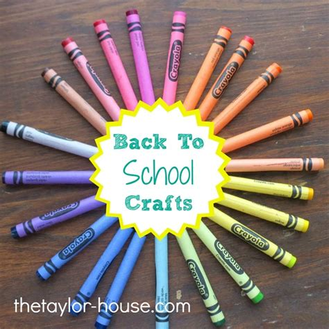 20 back to school craft activities the house 884 | backtoschoolcrafts