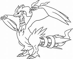 Coloriages Pokemon - Reshiram - Dessins Pokemon