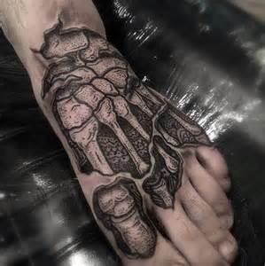 Hand Bones Skeleton Tattoo
