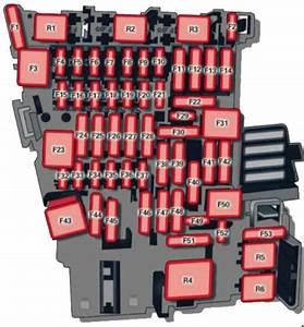 Audi A3  2012 - 2016  - Fuse Box Diagram