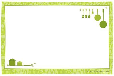 cards template  printable recipe card template