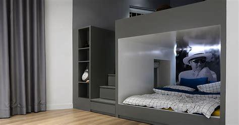 design detail built  bunk beds  closets  space