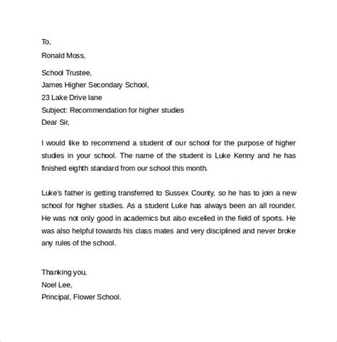sample employee reference letter sample recommendation letter formats 15 download