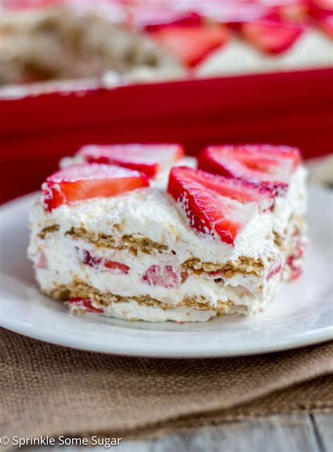 strawberry icebox cake sprinkle  sugar
