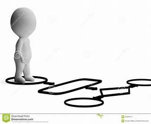 Flussdiagramm Und Zeichen 3d  Die Prozess Oder Prozedur