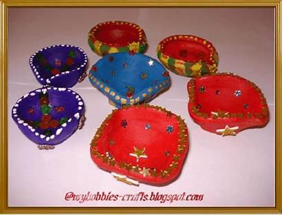 Homemade Crafts Diya Diwali Diyas Decorate Decorations