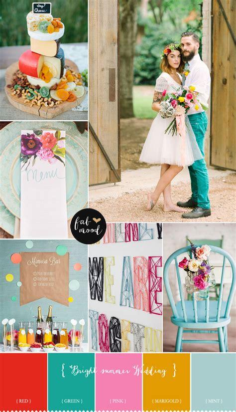 Bright Summer Wedding Colours Aurora Pink Green