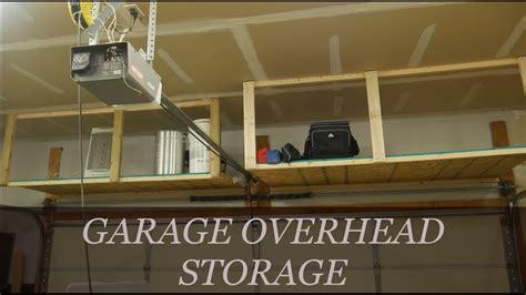 easy diy overhead garage storage rack youtube