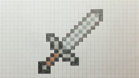 bit dibujando una espada de metal  bit drawing