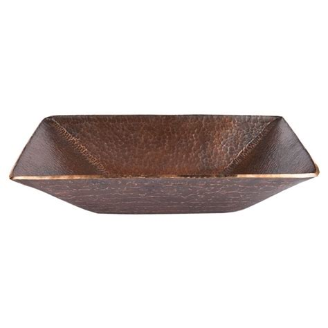 modern rectangle hand forged  world copper vessel sink