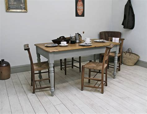 antique painted farmhouse kitchen table by distressed but