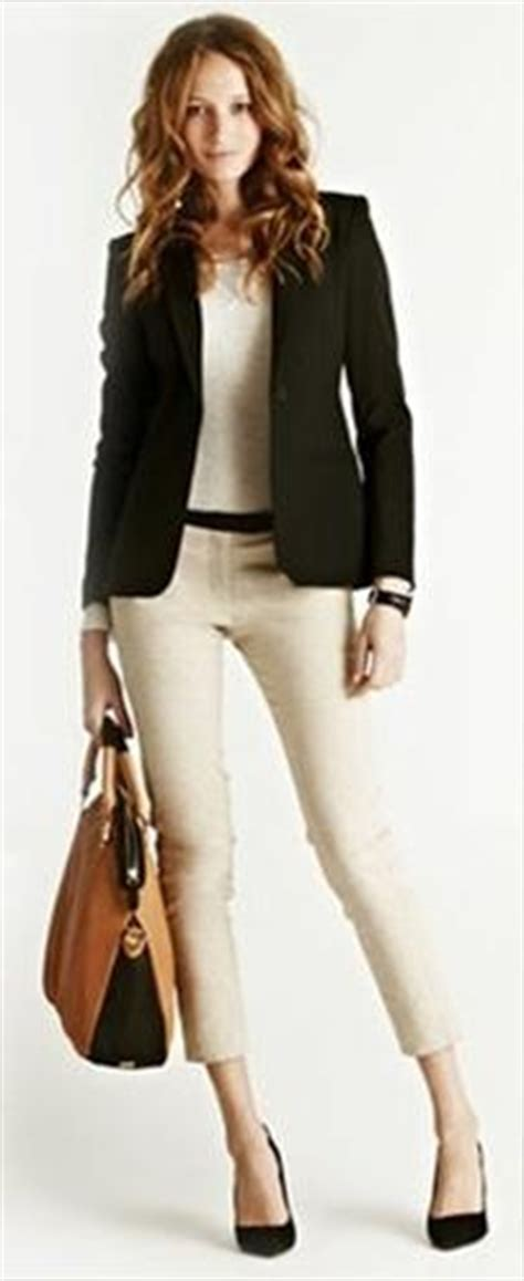Black blazer with beige pants | Formal Outfits | Pinterest | Black Blazers Blazers and Beige Pants