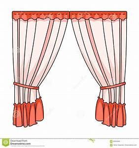 Curtains With Drapery On The Cornice Curtains Single Icon