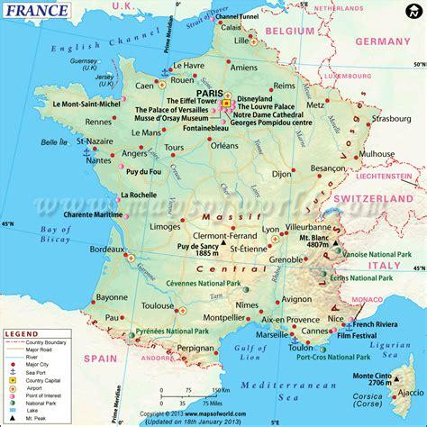 France Map Travelsfinderscom