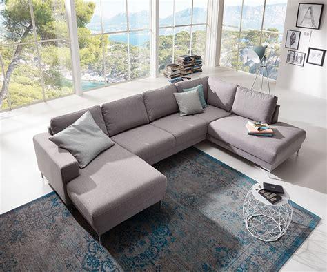 Wohnlandschaft Ecksofa by Designer Wohnlandschaft Silas 300x200 Grau Ottomane Rechts