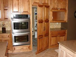 Awesome Kitchen Island with Hidden Trash Bin & Pantry also