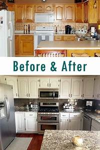 25 best ideas about budget kitchen makeovers on pinterest With best brand of paint for kitchen cabinets with where to make stickers