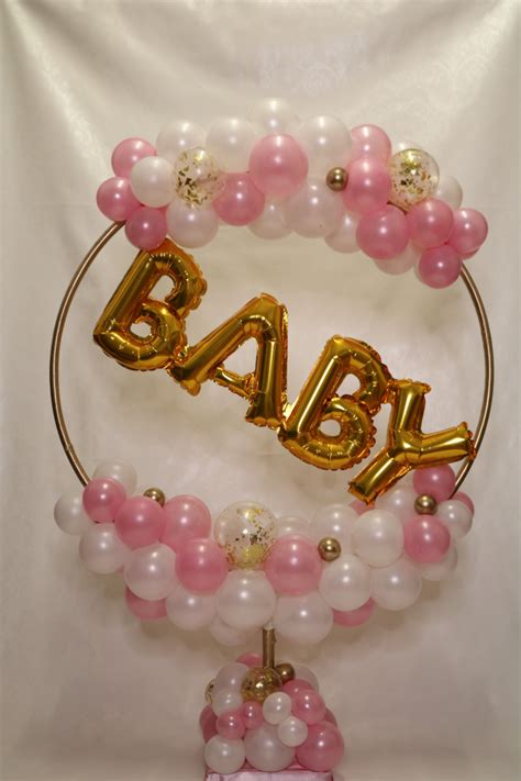 baby shower hula hoop table top decoration