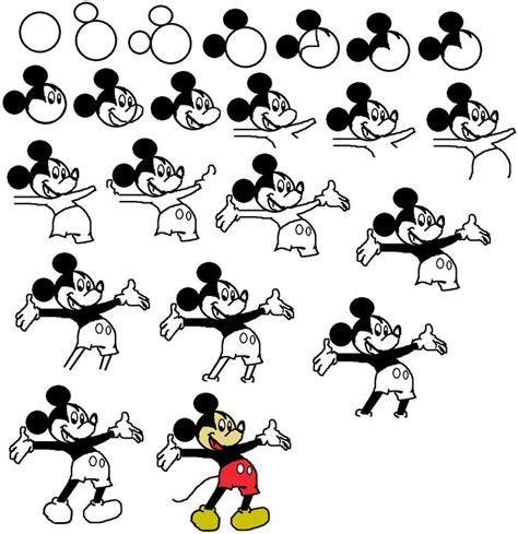 draw mickey mouse   draw mickey mouse