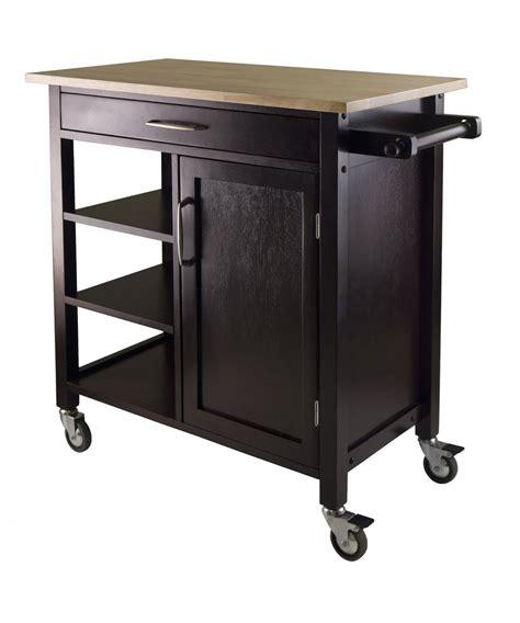 wood kitchen island cart winsome wood mali kitchen cart beyond stores