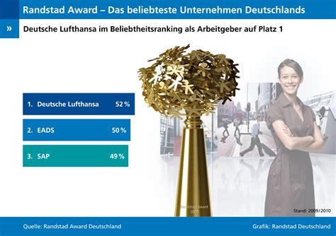 siege randstad randstad award 2009 deutsche lufthansa als arbeitgeber im
