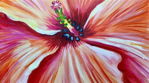 Hibiscus Flower Learn To Paint Tuesday With Ginger Cook
