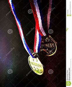 Two Winner Medals Stock Photo - Image: 43684905