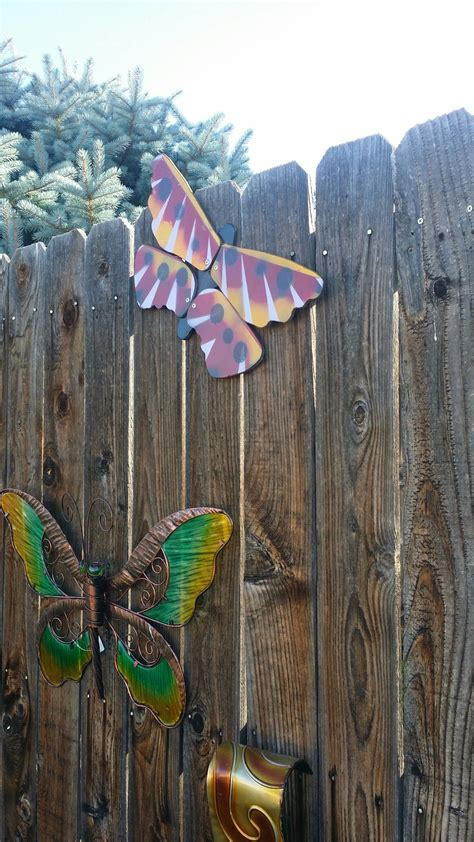 diy butterfly fan blades repurposed  garden art