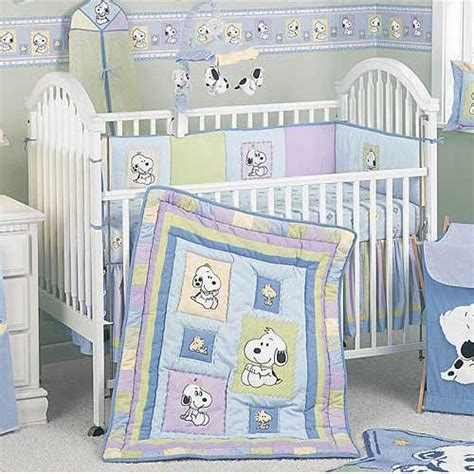 Snoopy Crib Bedding Set by Snoopy Family 6 Crib Set