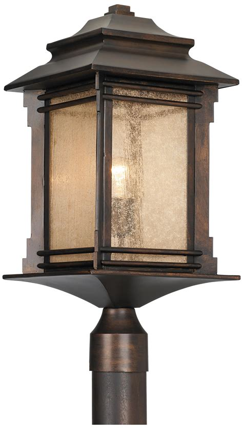 hickory point   high bronze outdoor post light