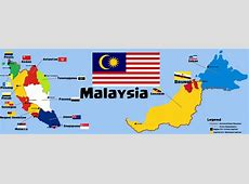 Map of Malaysia Merger & Post Separation Peace