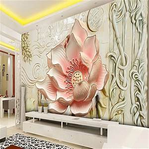 beibehang photo wallpaper Relief lily magnolia ...