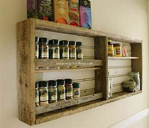 kitchen shelves made from wooden pallet recycled things With wall mounted bookshelves made from recycled things