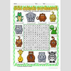 Wild Animals Wordsearch Worksheet  Free Esl Printable Worksheets Made By Teachers
