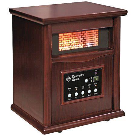 comfort zone heater comfort zone cz2020c ir quartz heater walmart