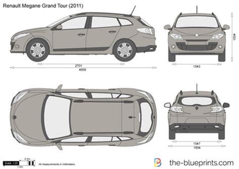 the blueprints vector drawing renault megane grand