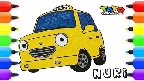 draw nuri taxi tayo   bus painting