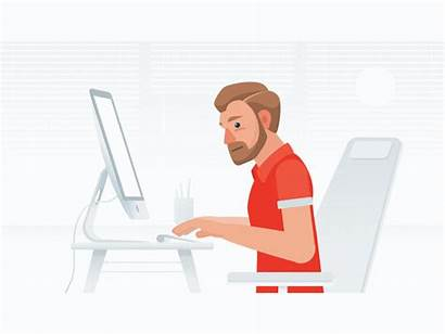 Dribbble Office 2d Maker Animation Flat Shots