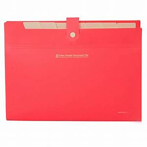 buy plastic 8 layers a4 paper file folder cover document With plastic cover for documents