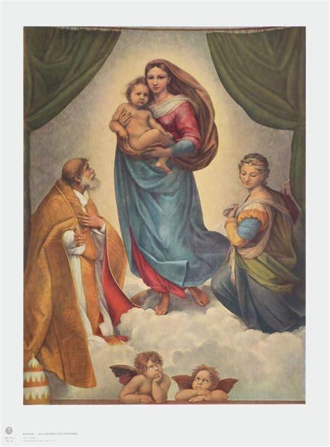 wandbild raphael sixtinische madonna art galerie