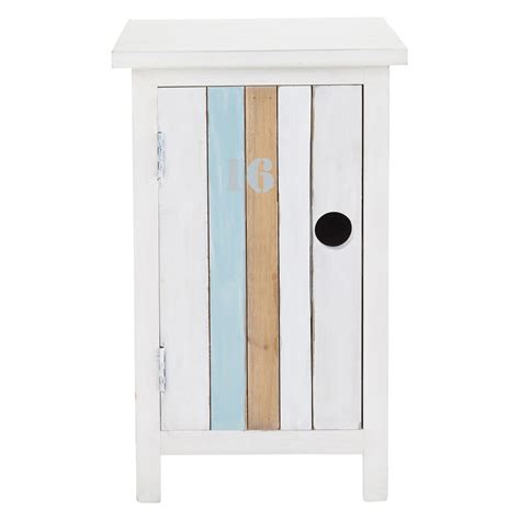table de chevet enfant en bois blanc l 34 cm oc 233 an